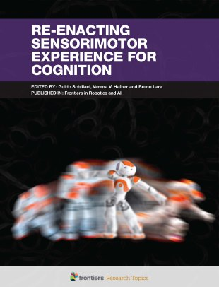 Artificial agent, re-enacting past and future sensorimotor states.