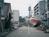 In 2011, the Tohoku earthquake created a series of huge tsunami waves, which damaged coastal communities killing more than 17,900 people, forcing more than 50,000 households to relocate, and caused the Fukushima nuclear power plant failure, a nuclear disaster second only to Chernobyl in Russia in 1986, but which spread radiation across the Pacific Ocean. Image by Shutterstock.