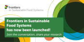 Today, on World Food Day, we are thrilled to announce the launch of Frontiers in Sustainable Food Systems which publishes rigorously peer-reviewed research to address one of the biggest challenges of our time: to sustainably achieve global food security.