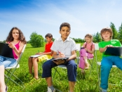 Children education learning outdoor lesson