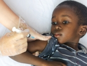 measles vaccination children ghana