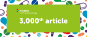 Frontiers in Pharmacology milestone: 3,000th article published!