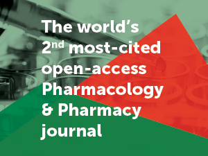 Frontiers in Pharmacology is the world's 2nd most-cited open-access journal in its field and ranks in the top Impact Factor and CiteScore percentiles