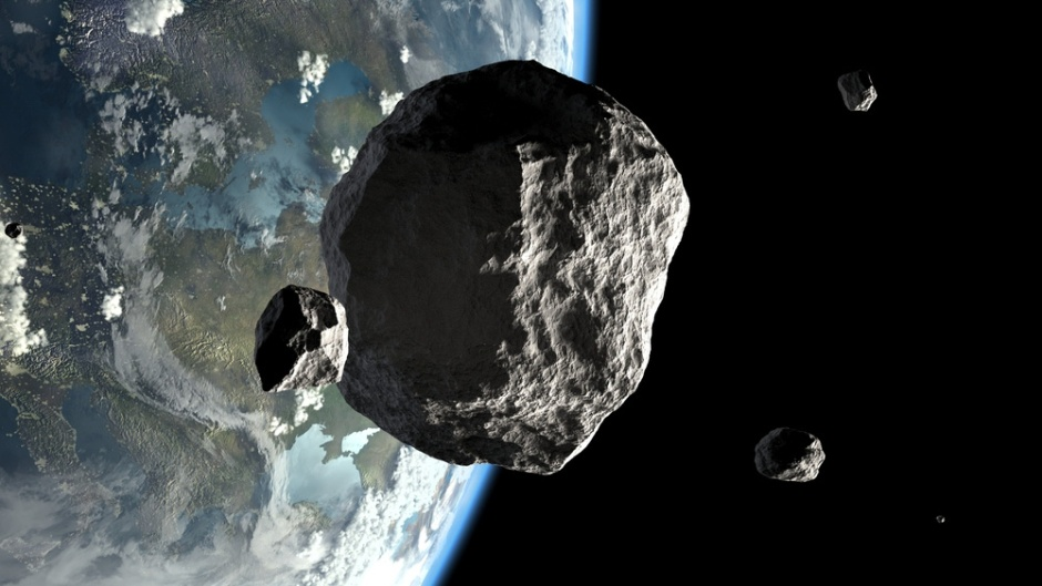 An image of asteroids close to the Earth. Detection of small asteroids temporarily captured in orbit around Earth will provide an opportunity to increase our knowledge of asteroids and test space-faring technology: Frontiers in Astronomy and Space Science