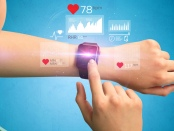 Image of a wearable device showing health data. A new review says we know little about how well wearable devices work or if they deliver useful information: Frontiers in Physiology