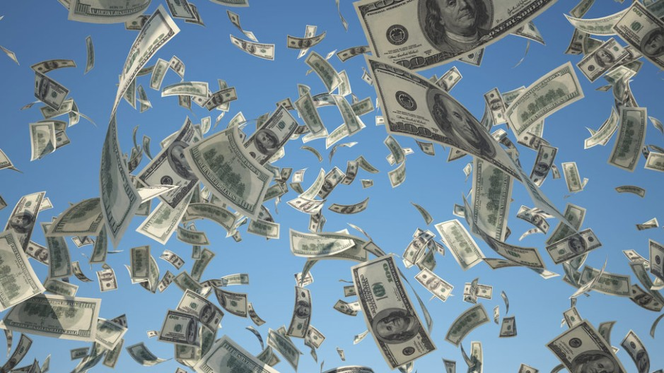 Picture of money. For the first time, machine learning allows researchers to rank factors that predict future affluence and higher income: Frontiers in Psychology