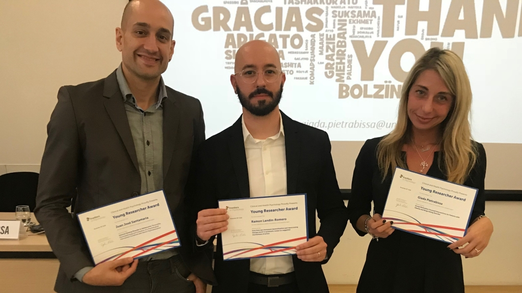 Image of the winners of the Frontiers in Psychology Young Researchers Award (November 2018)