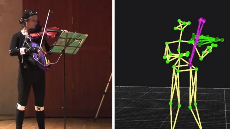 Frontiers in Psychology; A system developed by David Dalmazzo and Rafael Ramírez, members of the Music Technology Group, allows violin students to benefit from real-time accurate information about their movements when playing the instrument
