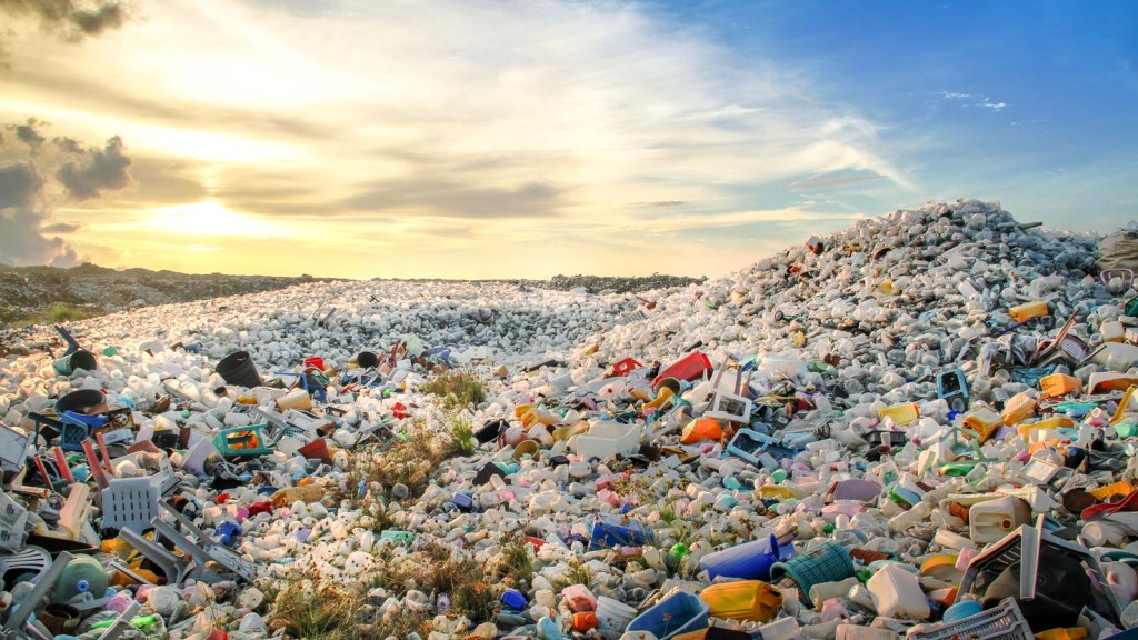 Image of a plastic landfill. A strain of an extremophile group of bacteria is capable of ingesting toxic organic compounds as its sole source of carbon, nitrogen and energy: Frontiers in Microbiology