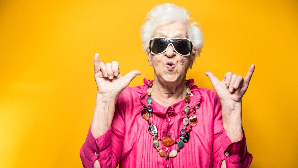 Image of a cool grandma. Dance Movement Therapy as a tool to improve mood, promote exercise, and create closeness between grandparents and grandchildren: Frontiers in Psychology.